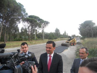 Ministro Pedro Marques anuncia investimento de 6,4 milhões entre Alcácer e Grândola:  Obras de 6,5 milhões no IC1 prontas em 2018